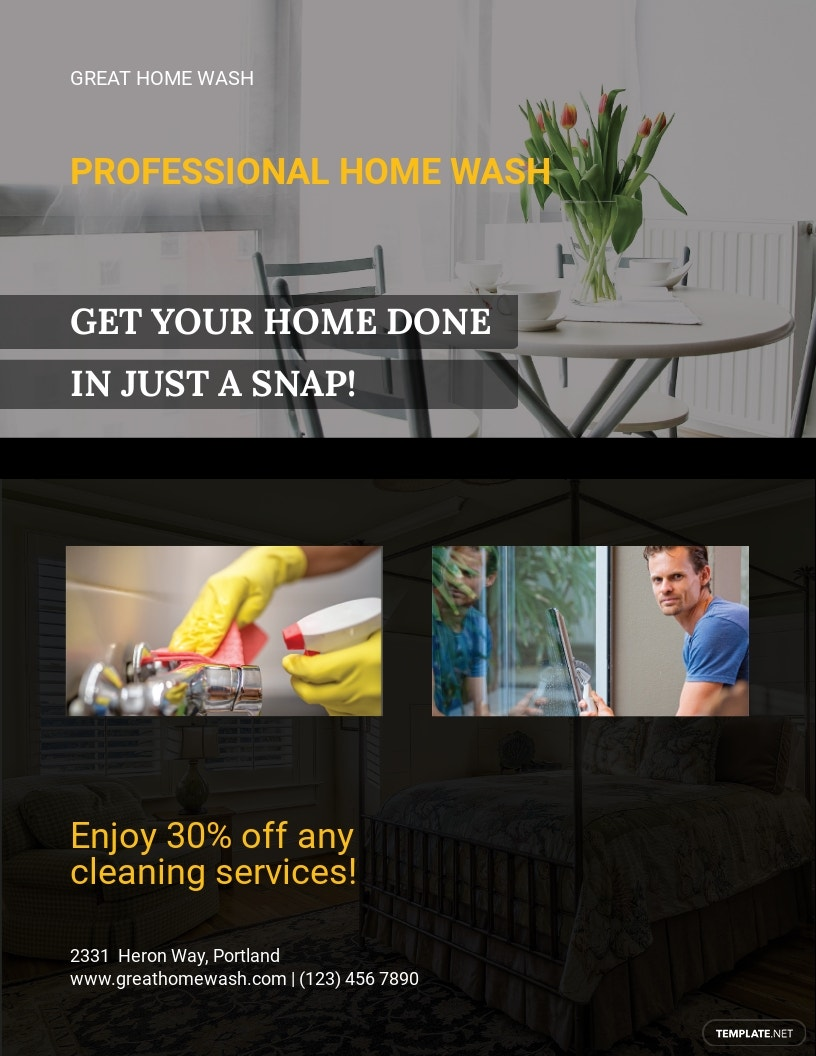 House Cleaning Services Flyer Template