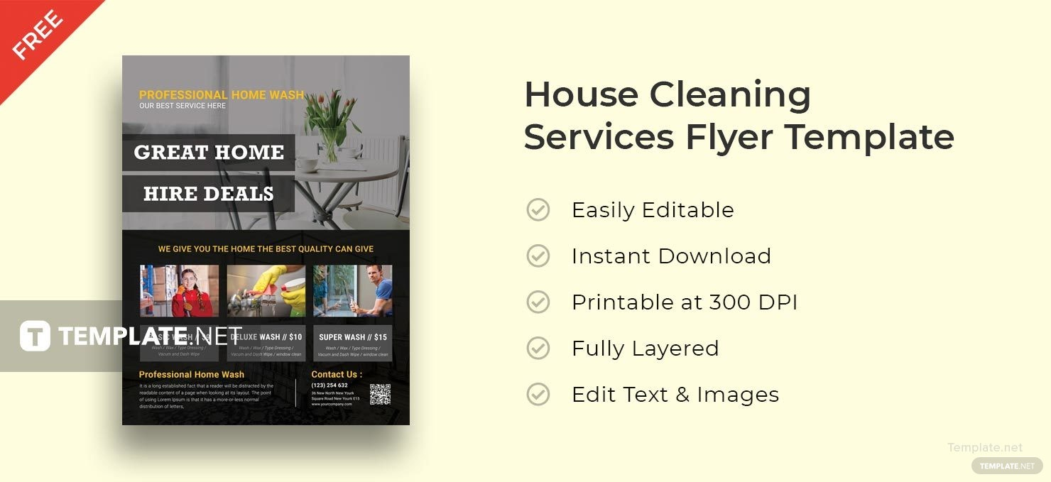House Cleaning Services Flyer Templates Thevillas