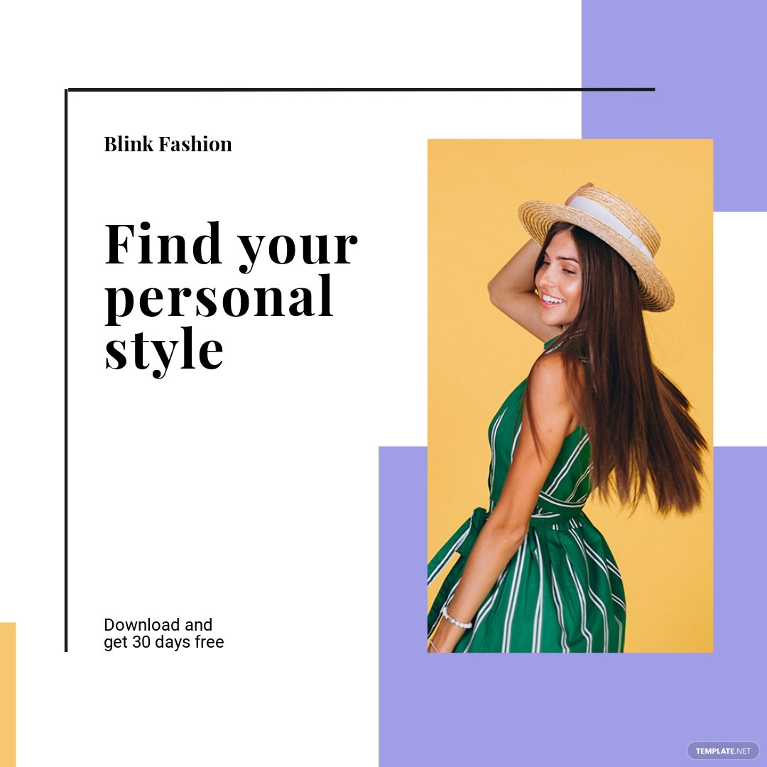 Free Fashion Brands App Promotion Instagram Post Template