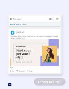Free Fashion Brands App Promotion LinkedIn Blog Post Template