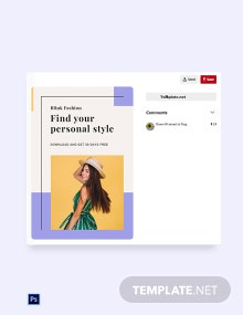 Free Fashion Brands App Promotion Pinterest Pin Template