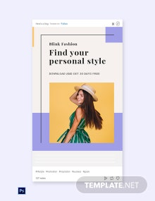Free Fashion Brands App Promotion Tumblr Post Template