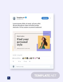 Free Fashion Brands App Promotion Twitter Post Template