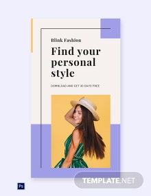 Free Fashion Brands App Promotion Whatsapp Image Template