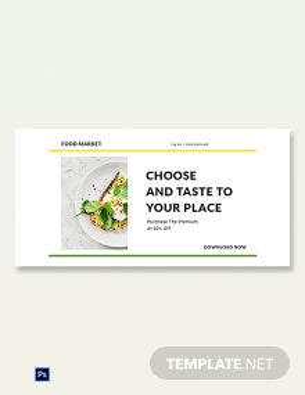Free Food Market App Promotion Blog Post Template