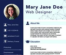 Free Web Designer Fresher CV Template