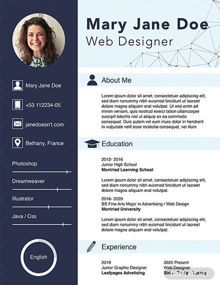 free graphic and web designer resume template download 160 resume