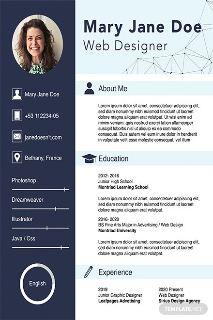 free web designer fresher cv template  download 160