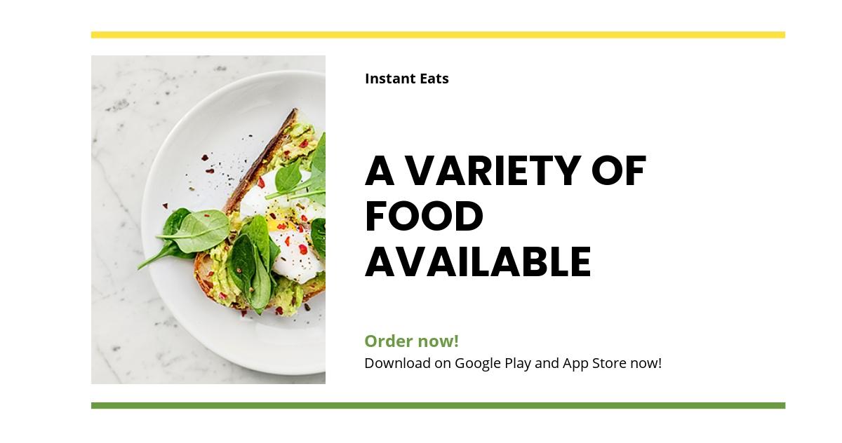 Food Market App Promotion Linkedin Post Template