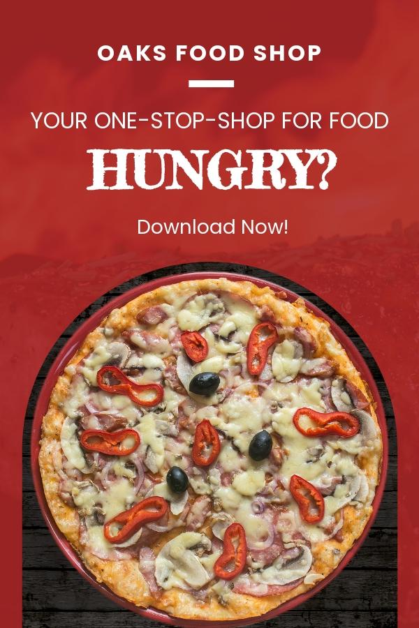 Free Food Market App Promotion Pinterest Pin Template.jpe