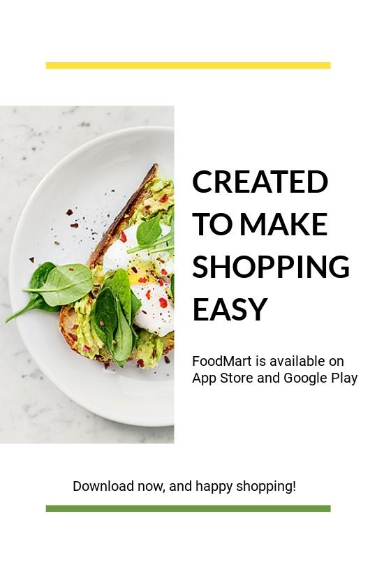 Food Market App Promotion Tumblr Post Template