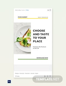 Free Food Market App Promotion Tumblr Post Template