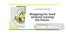 Free Food Market App Promotion Twitter Post Template