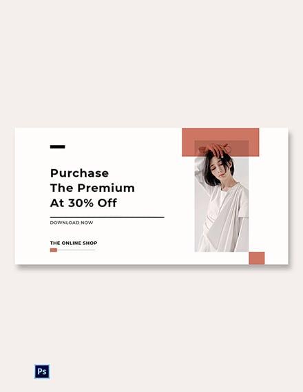 Free Minimalistic Fashion App Promotion Blog Post Template
