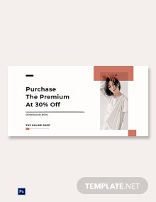 Free Minimalistic Fashion App Promotion Blog Post Template