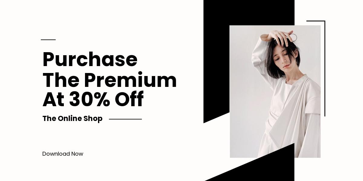 Minimalistic Fashion App Promotion Blog Post Template.jpe