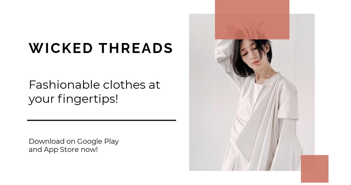Free Minimalistic Fashion App Promotion Facebook Post Template.jpe