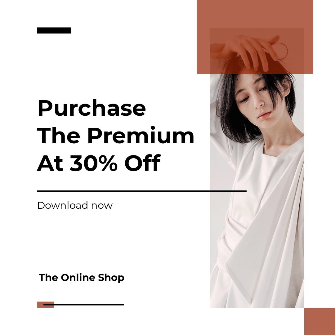 Free Minimalistic Fashion App Promotion Instagram Post Template
