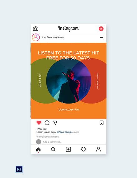 Free Modern App Promotion Instagram post Template
