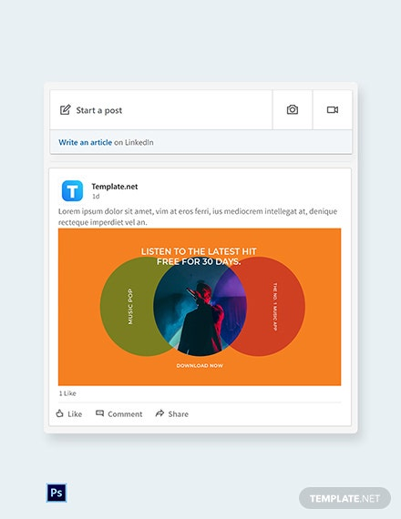 Free Modern App Promotion Linkedin Post Template