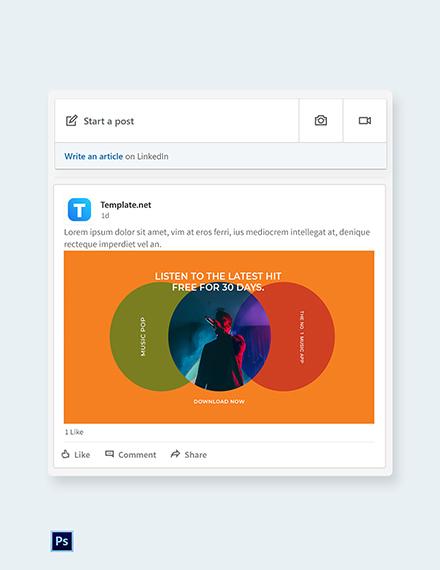Free Modern App Promotion Linkedin Post Template