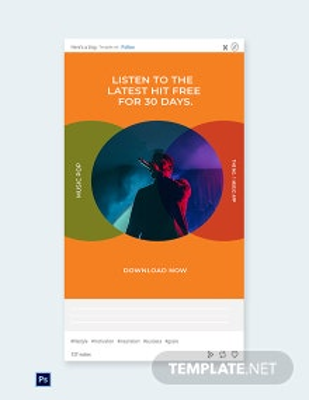 Free Modern App Promotion Tumblr Post Template