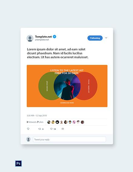 Free Modern App Promotion Twitter Post Template
