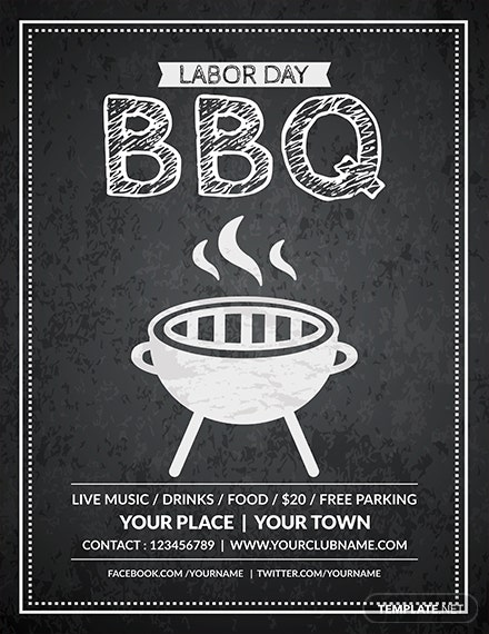 Free Labor Day Bbq Flyer Template Download 416 Flyers In Psd