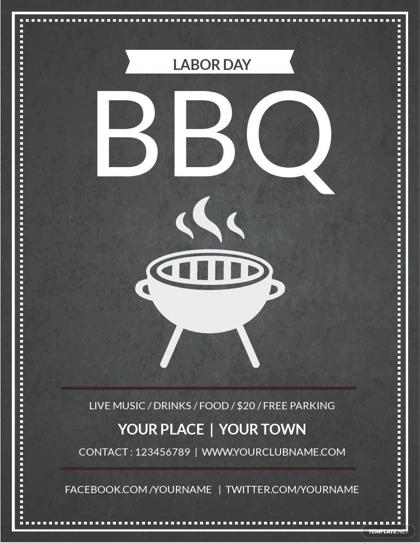 Free labor Day BBQ Flyer Template.jpe