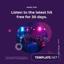Free Modern Music App Promotion Instagram Post Template