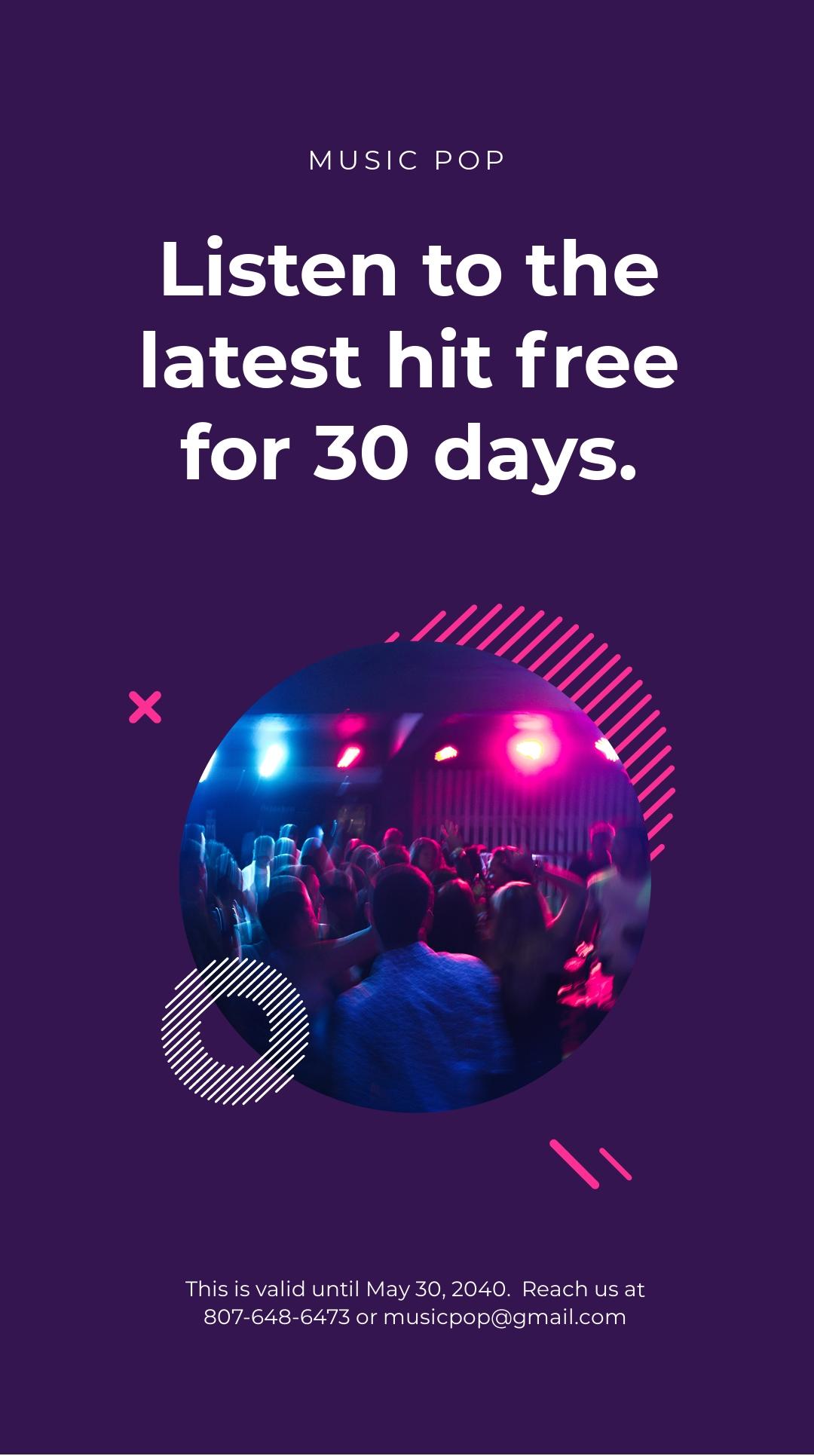 Modern Music App Promotion Instagram Story Template