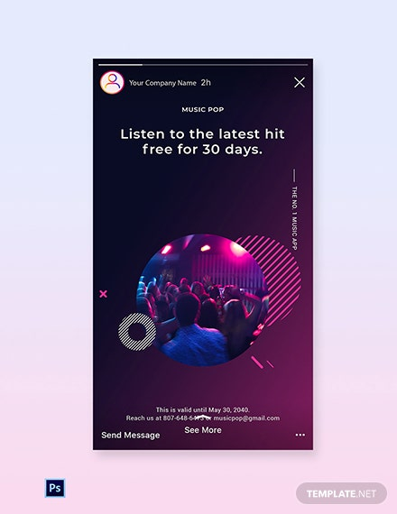 Free Modern Music App Promotion Instagram Story Template