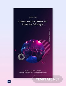 Free Modern Music App Promotion Whatsapp Image Template