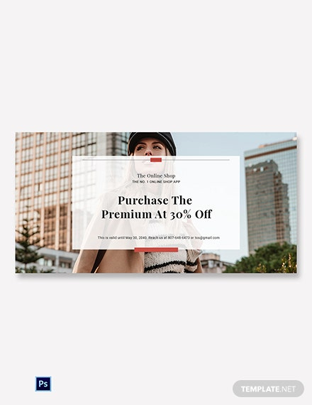 Free Online Shop App Promotion Blog Post Template