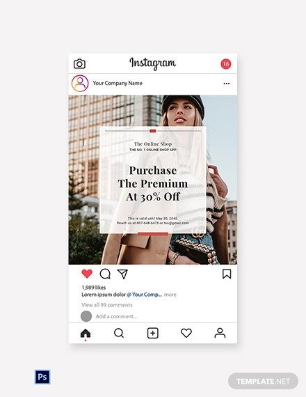 Free Online Shop App Promotion Instagram Post Template