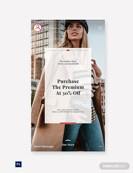 Free Online Shop App Promotion Instagram Story Template