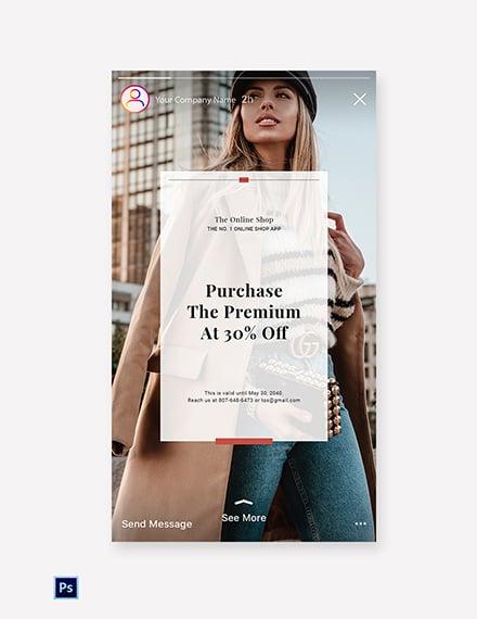 Free Online Shop App Promotion Instagram Story Template