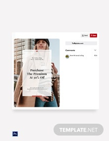 Free Online Shop App Promotion Pinterest Pin Template