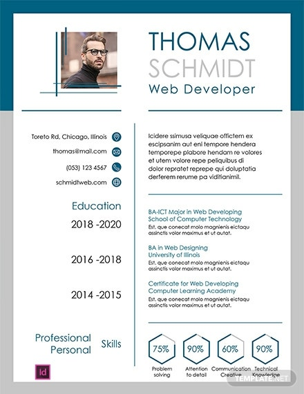 Free 3 Page Resume Template