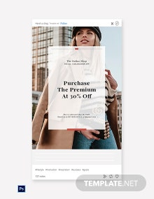 Free Online Shop App Promotion Tumblr Post Template