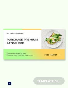 Free Restaurant App Promotion Blog Image Template