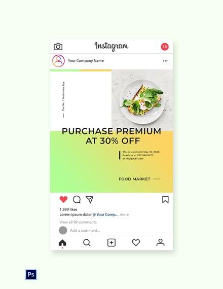 Free Restaurant App Promotion Instagram Post Template