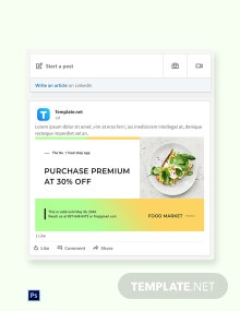 Free Restaurant App Promotion LinkedIn Blog Post Template