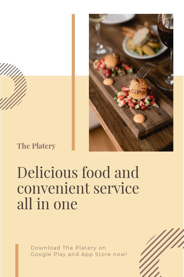 Free Restaurant App Promotion Pinterest Pin Template