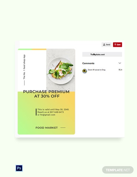 Free Restaurant App Promotion Pinterest Pin Template