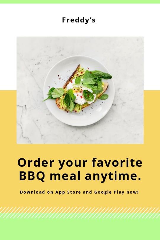 Restaurant App Promotion Tumblr Post Template