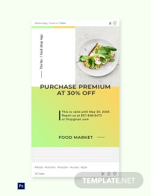 Free Restaurant App Promotion Tumblr Post Template