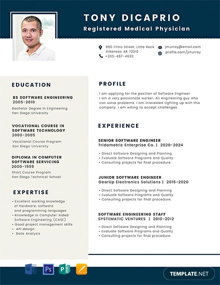Medical Student Resume Format Template