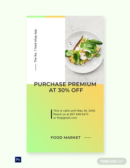 Free Restaurant App Promotion Whatsapp Image Template