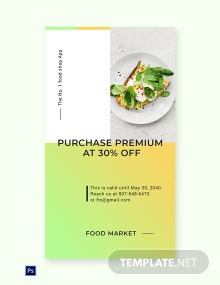 Free Restaurant App Promotion Whatsapp Image Template